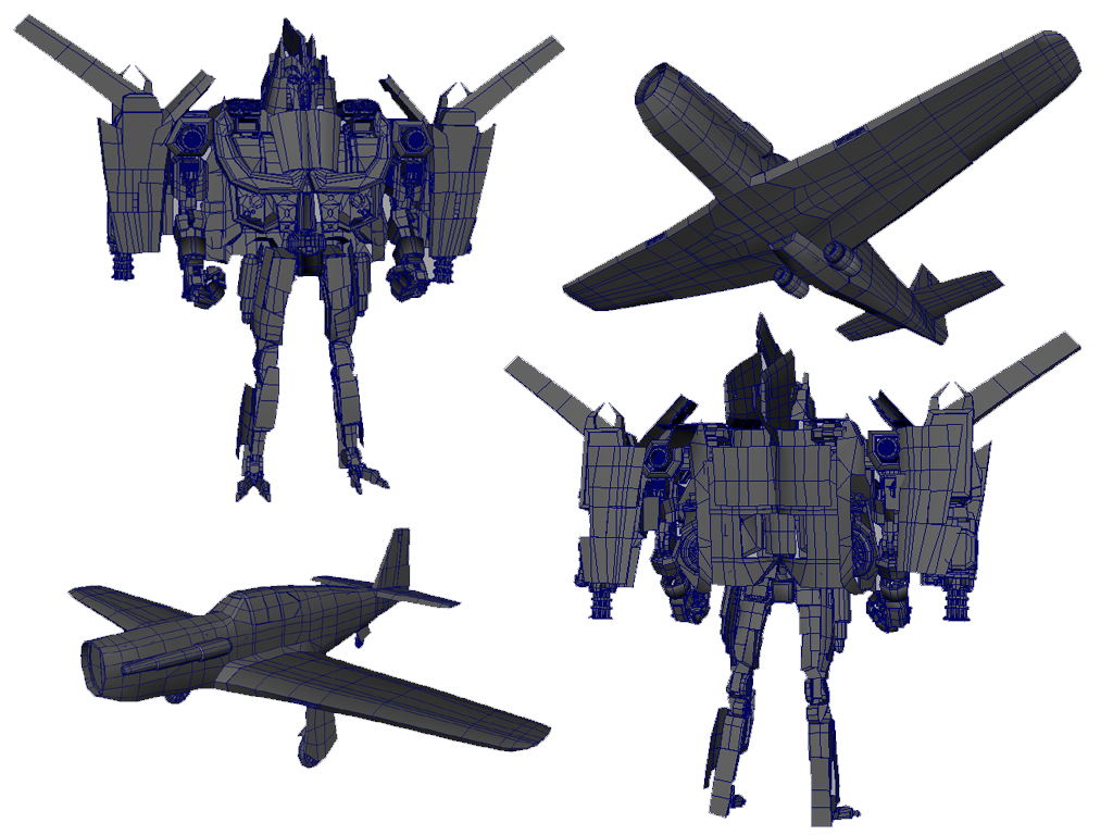 Modified P51 Transforming Robot - Personal Design