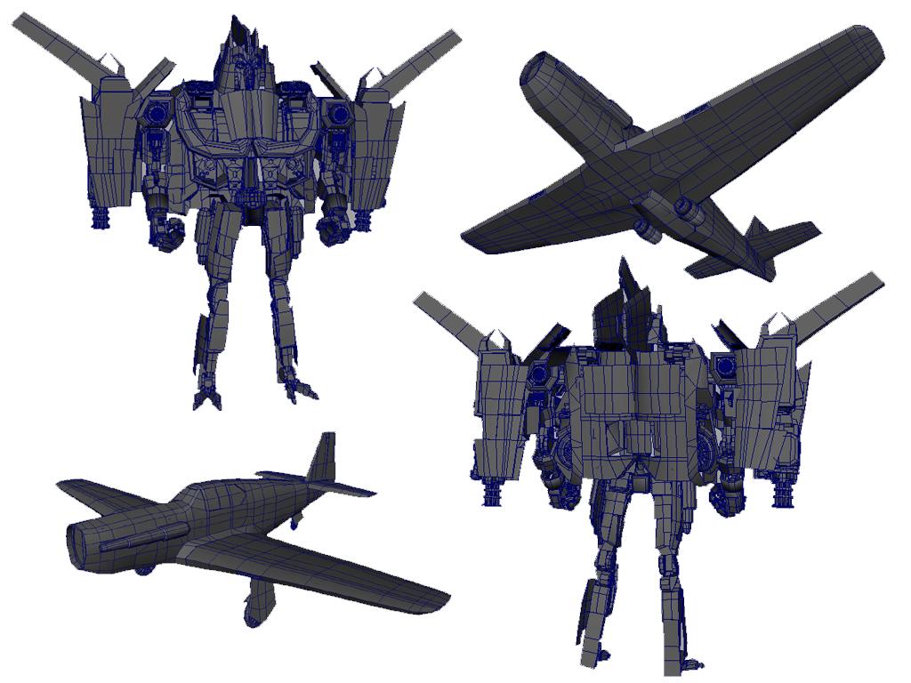 Modified P51 Transforming Robot - Personal Design
