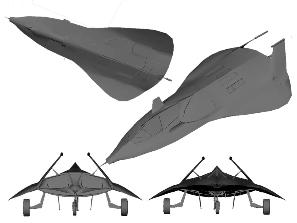 F-19 Stealth Fighter - Low Poly