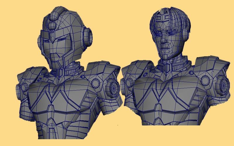 MM2K10 - Fanart Design of Mega Man - Bust