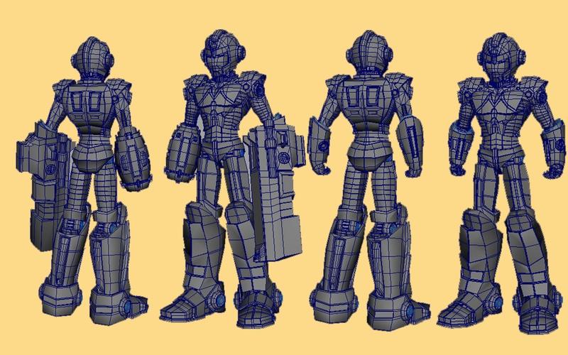 MM2K10 - Fully Armed - Fanart Design of Mega Man